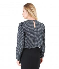Bluza imprimata cu motive geometrice
