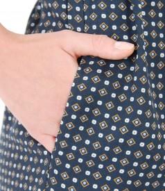 Rochie din vascoza cu motive geometrice
