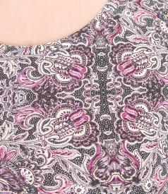 Bluza din jerse elastc imprimat