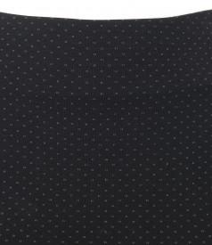 Fusta eleganta din jerse elastic gros cu picouri