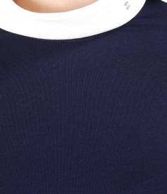 Bluza din jerse elastic cu maneci 3/4