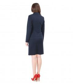 Tinuta office cu rochie din stofa elastica