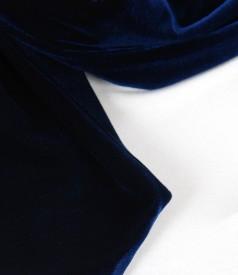 Esarfa din catifea elastica bleumarin