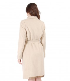 Jacheta cu lana si bumbac si cordon