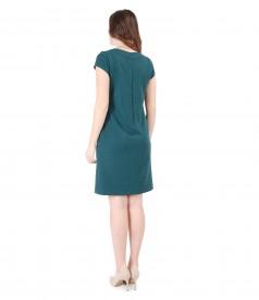Rochie din stofa elastica cu maneci scurte