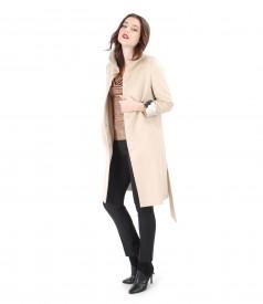 Jacheta cu lana si bumbac si pantaloni pana