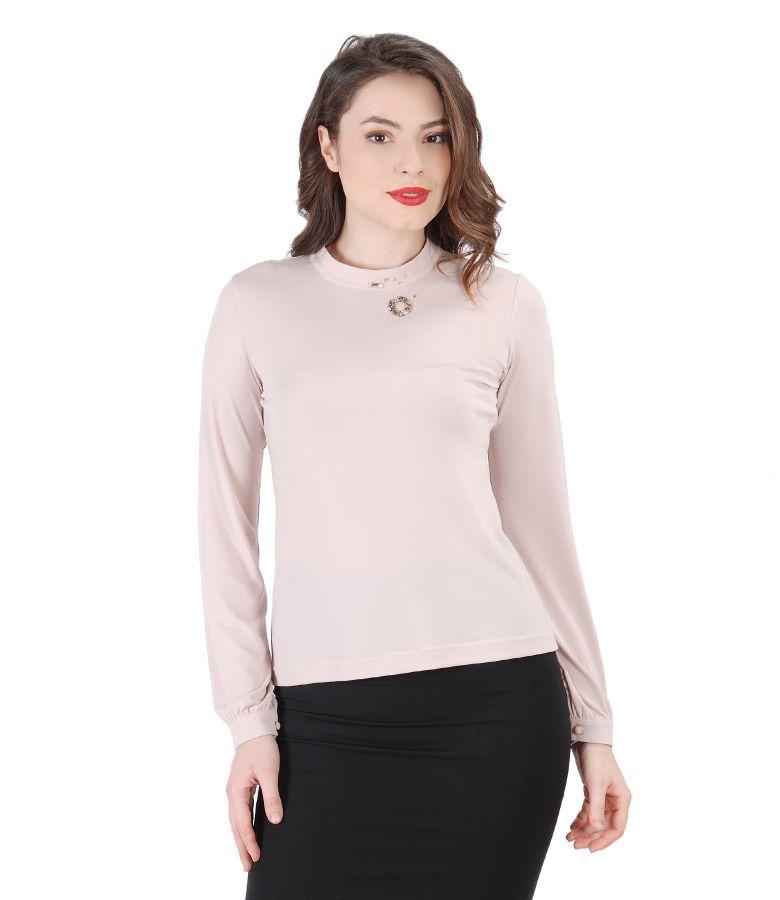 Bluza eleganta cu aplicatie de cristale Swarovski
