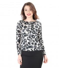 Bluza eleganta cu imprimeu floral