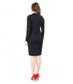 Rochie eleganta din jerse elastic gros cu picouri
