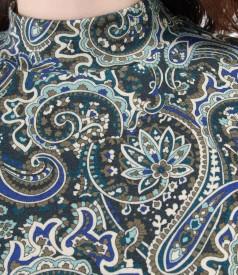 Bluza eleganta din jerse imprimat cu guler