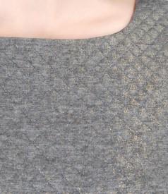 Rochie eleganta din brocart elastic cu motive geometrice