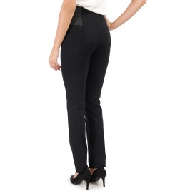 Pantaloni pana din jerse elastic gros cu garnitura elastica