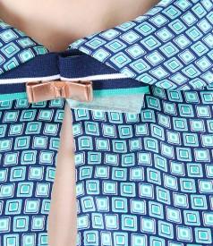 Bluza cu maneci lungi si accesoriu la guler