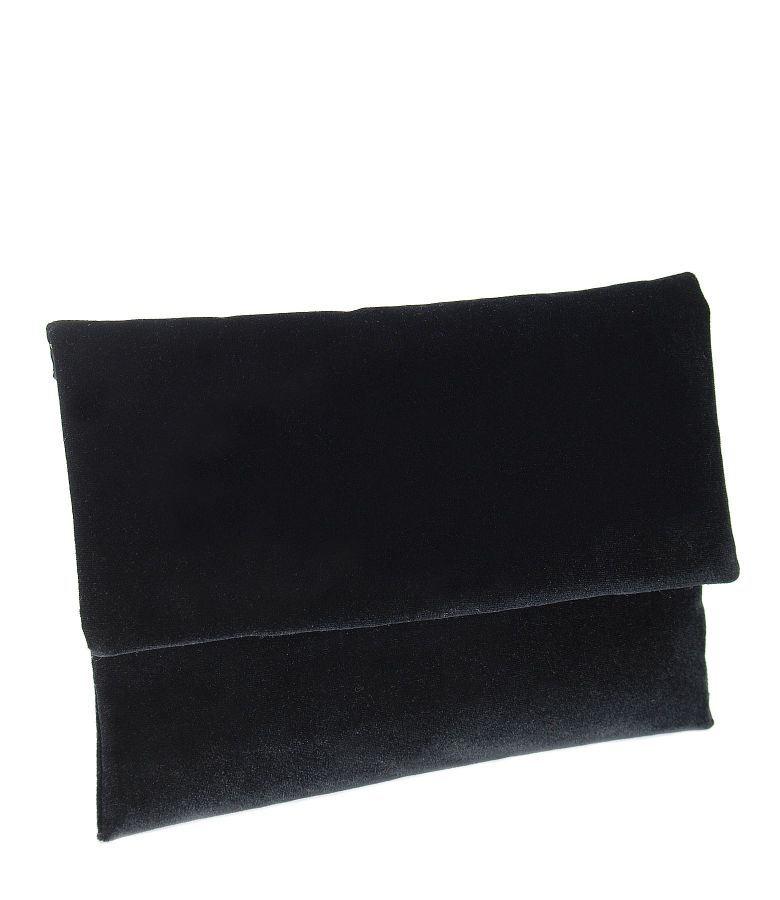 Plic din catifea elastica neagra