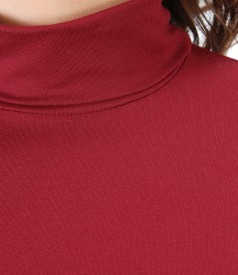 Bluza eleganta cu guler pe gat