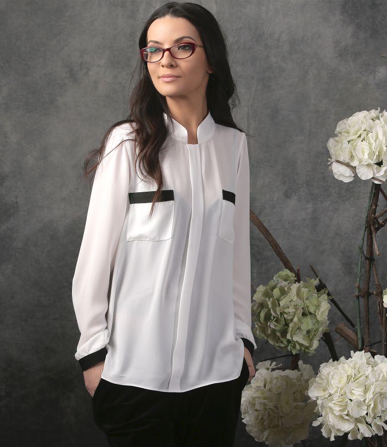 Bluza eleganta cu maneci lungi