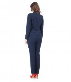 Costum office dama cu sacou si pantaloni cu elastic multicolor