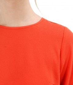 Bluza lejera cu fermoar pe mijloc spate