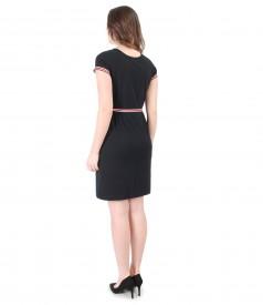 Rochie eleganta cu elastic multi-color in talie