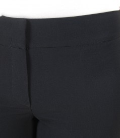 Pantaloni office cu clapa aplicata pe spate
