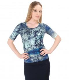 Bluza eleganta din jerse elastic
