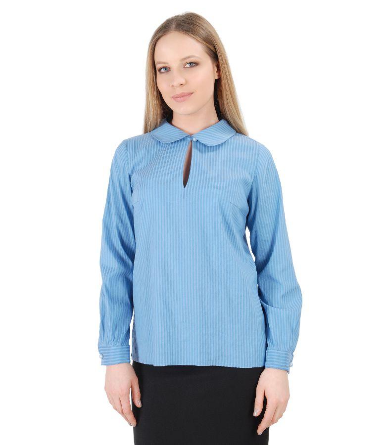 Bluza eleganta cu maneci lungi si guler rotund