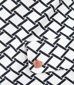 Bluza eleganta din jerse imprimat cu dungi