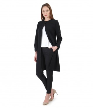 Jacheta eleganta cu pantaloni pana