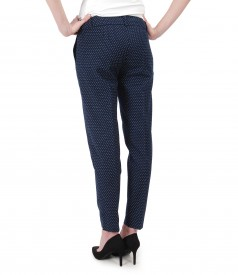 Pantaloni pana imprimati cu picouri