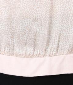 Bluza din jerse elastic cu fata din viscoza imprimata