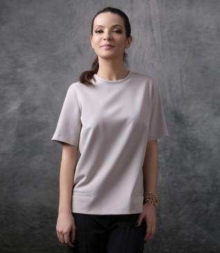 Bluza eleganta cu buzunare pe fata
