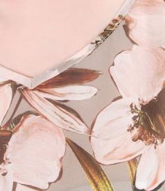 Bluza eleganta din vascoza imprimata cu flori