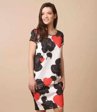 Rochie lejera cu fata imprimata cu flori