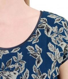 Bluza cu fata din matase imprimata cu flori