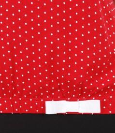 Bluza eleganta din jerse elastic cu picouri