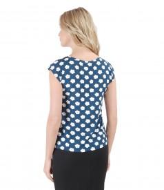 Bluza din jerse imprimat motive florale
