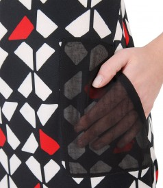 Rochie lejera cu imprimeu geometric