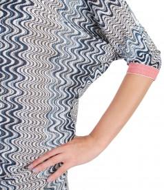 Rochie midi cu maneca chimono din dantela