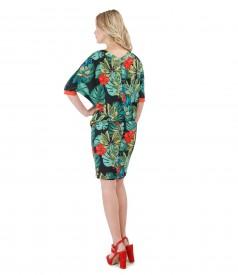 Rochie midi cu maneca chimono