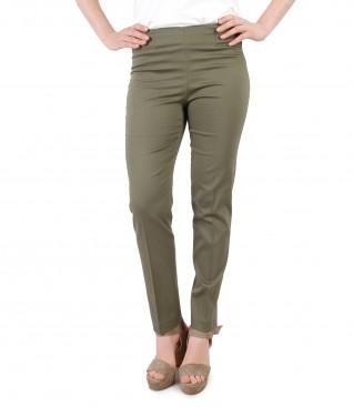 Pantaloni pana din bumbac texturat