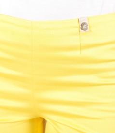 Pantaloni pana din bumbac elastic