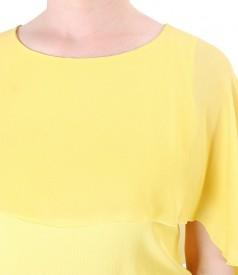 Bluza eleganta cu pelerina din voal