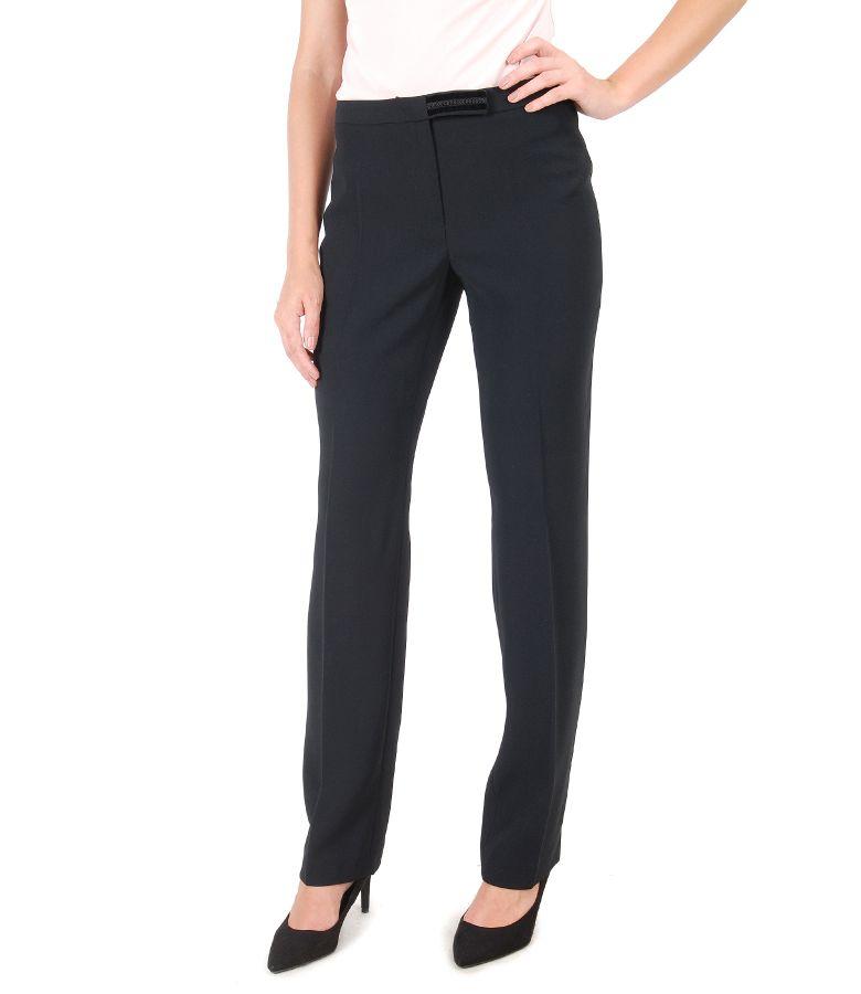 Pantaloni eleganti cu dunga