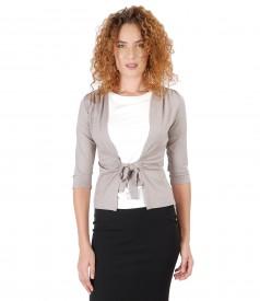 Bluza din jerse legata cu cordon