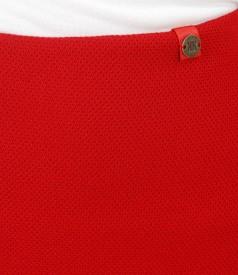 Fusta eleganta din stofa texturata