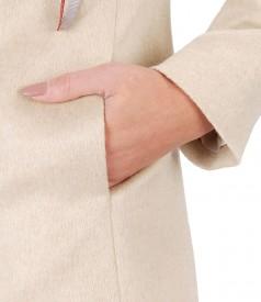 Jacheta eleganta cu lana si bumbac