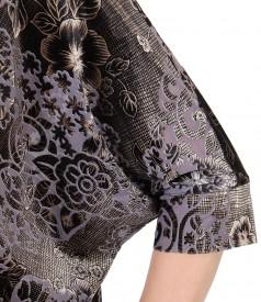 Bluza de seara fluture cu pliuri pe fata