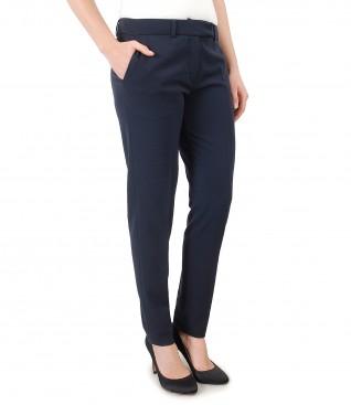 Pantaloni pana din stofa elastica