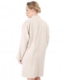 Jacheta din bucle cu lana si alpaca