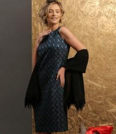 Rochie de seara din brocart cu fir de efect